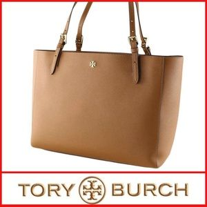 NWT Tory Burch Large Emerson Buckle Tote, Cardamom